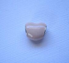 PINK ENAMEL IN HEART SHAPE .925 Sterling Silver European Charm Bead