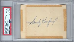 Sandy Koufax PSA Autograph Auto Signed early 1960's during playing days Vintage