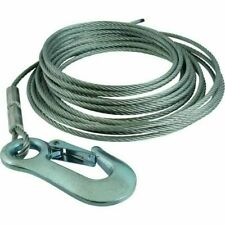 2.6 ton Wire Winch Cable with Winch Hook 6mm x 15 Meter