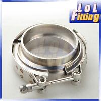 "2.5"" V-Band Vband Clamp CNC Stainless Steel Flange Flanges Kit Turbo"