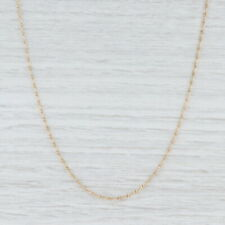 "Figaro Chain Necklace 14k Yellow Gold 17.5"" 1.5mm Italian"