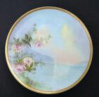 Haviland+%26Co+Limoges+France+Hand+painted+Rose+%26+Water+Artist+Signed+8+3%2F4%22+Plate