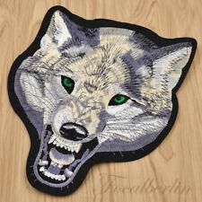Wolf Kopf Groß Patch Aufnäher Verzierungen Kleidung Deko Nähen Aufbügler DIY Neu