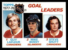 1978-79 Topps #63 Goal Leaders Lafleur Bossy Shutt MINT (ref 28141)