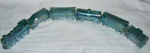 Vintage 1995 Boyd Glass Special Train 6 Piece Set Mint Julep Carnival EUC