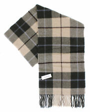 NWT ETON SCARF green beige overcheck plaids wool Sweden luxury Italy