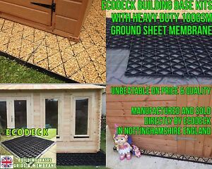 SHED BASES KIT + MEMBRANE 6x4 8x6 10x6 10x8 12x6 12x8 ECO BASE / GREENHOUSE em