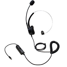 AGPtEK Hands-free Call Center Noise Cancelling Corded Monaural Headset Headphone
