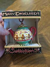 Vintage Mary Engelbreit Mini Teapot Ornament Gingerbread