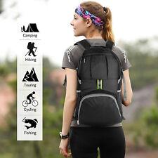 Mens Women's Waterproof Nylon Outdoor Backpack Sport Hiking Travel Rucksack Bag