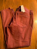 Womens White House Black Market Skinny Pants Skimmer Sz12 Cherry Red NWT MSRP$89