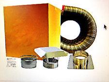Chimney INSERT liner kit 3x20 STAINLESS STEEL w/ Cap EASY INSTALL Lifetime Wrnty