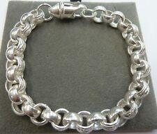 Uni & gemustert programmiert Armband 32 Gramm - 9mm-Solid Sterling Silber. 925