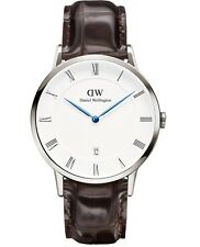 Daniel Wellington Watch * 1122DW Dapper York 38MM Croc Brown Leather COD #crzyj