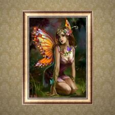Butterfly Fairy DIY 5D Diamond Painting Embroidery Cross Stitch Kit Art Decor