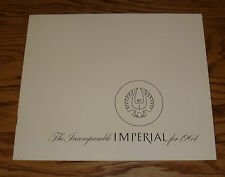 Original 1964 Chrysler Imperial Sales Brochure 64 Lebaron Crown