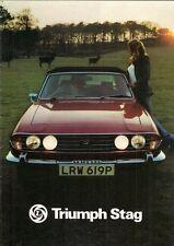 Triumph Stag 1976-1977 UK Market Sales Brochure