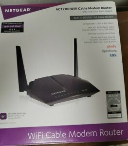 NETGEAR Cable Modem WiFi Router Combo C6220 AC1200, Tested
