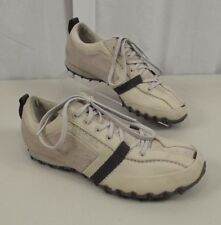 Diesel Mens Shoes Size 9 Leather Lace Up Fashion Sneakers Cream Gray Suede