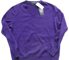 "POLO RALPH LAUREN 100%  Cashmere Sweater "" DARK PURPLE"" Gr M"