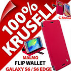New Krusell Malmo Flip Stand Cover Wallet Case for Samsung Galaxy S6 / S6 Edge