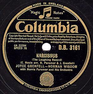 SIR NORMAN WISDOM +JOYCE GRENFELL 78  NARCISSUS /I DON'T ARF LOVE YOU DB 3161 EX