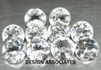 WHITE TOPAZ 1 MM ROUND CUT 1000 PIECE MATCHED SET ALL NATURAL AAA 1X1000