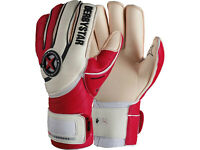Derbystar Chronos Torwart-Handschuhe rot Goalkeeper Gloves Gr. 9 - 11 Torhüter