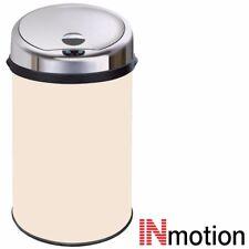 Inmotion 30L Cream Stainless Steel Auto Sensor Kitchen Waste Dust Bin