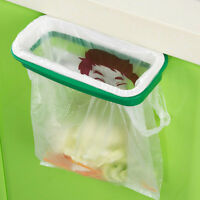 Folding Hanging Trash Rubbish Bag Holder Garbage Rack Cupboard Storage Hanger XR