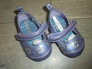 Faded Glory purple Kiki shoes with strap size 2
