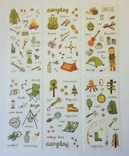 Camping 6er Pfadfinder Urlaub Natur Kinder Abenteuer Sticker Aufkleber Herbst