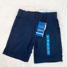 Perry Ellis Nwt Boys Size 5 Stretch Khaki Uniform Shorts Navy Blue