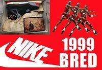 DS 1999 NIKE AIR JORDAN 4 IV BLACK CEMENT BRED RETRO OG supreme Travis Scott 8.5