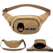 Anime Deadpool Ant-Man Canvas Belt Waist Bag Holder Bag Women's Fanny Bag Pack