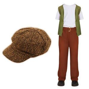 Children's Victorian Costume: Evacuee Child Kids Waistcoat Cap Oliver Urchin Boy
