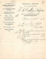 Ancienne lettre - F. LE TALLEC & LAFON à Paris - 1904