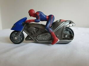 """4"""" Spiderman action figure and bike"""