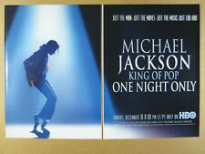 1995 Michael Jackson photo HBO Concert Special vintage print Ad