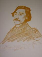 Henry BATAILLE (1872-1922) LITHO PORTRAIT PAUL FORT POESIE REIMS THEATRE 1901