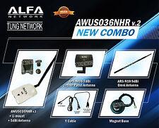 Combo Alfa AWUS036NHR v2 2000mW Wi-Fi DEAL 3 antennas all Original