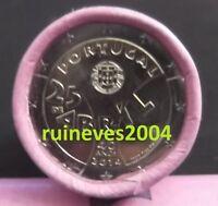 """2 Euro commémorative Portugal  2014   """" Révolution des Oeillets du 25 avril """"UNC"""