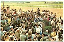 SECRETARIAT POSTCARD - IN BELMONT STAKES WINNERS CIRCLE!
