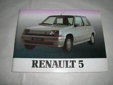 RENAULT 5 GT TURBO LIVRE CONSEIL D'UTILISATION NEUF ORIGINE D'EPOQUE