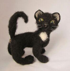 "Unusual Toy,Cat ""Jane"",Felting.ONLY ONE. OOAK."