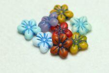 8 Cristal Checo Cuentas De Flor Multi/Azul destaca 14 X 13mm (BBC2054)