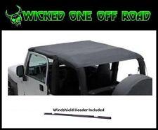 Smittybilt Extended Bikini Top w/ Windshield Header for 97-06 Jeep TJ Wrangler