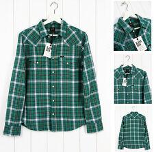 Camisas casuales de hombre de manga larga de color principal verde