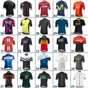 Men's Team Cycling Jersey Short Sleeve Tops Reflective Bicycle Road Racing Shirt