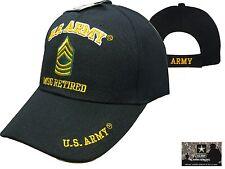 US Army MSG RETIRED Ball Cap Master Sergeant E-8 Korea Vietnam OEF OIF Vet Hat
